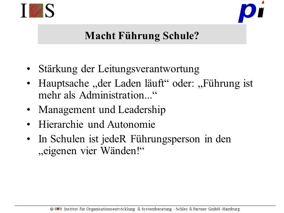 """Macht Führung Schule Stärkung der Leitungsverantwortung. Hauptsache """"der Laden läuft oder: """"Führung ist mehr als Administration..."""