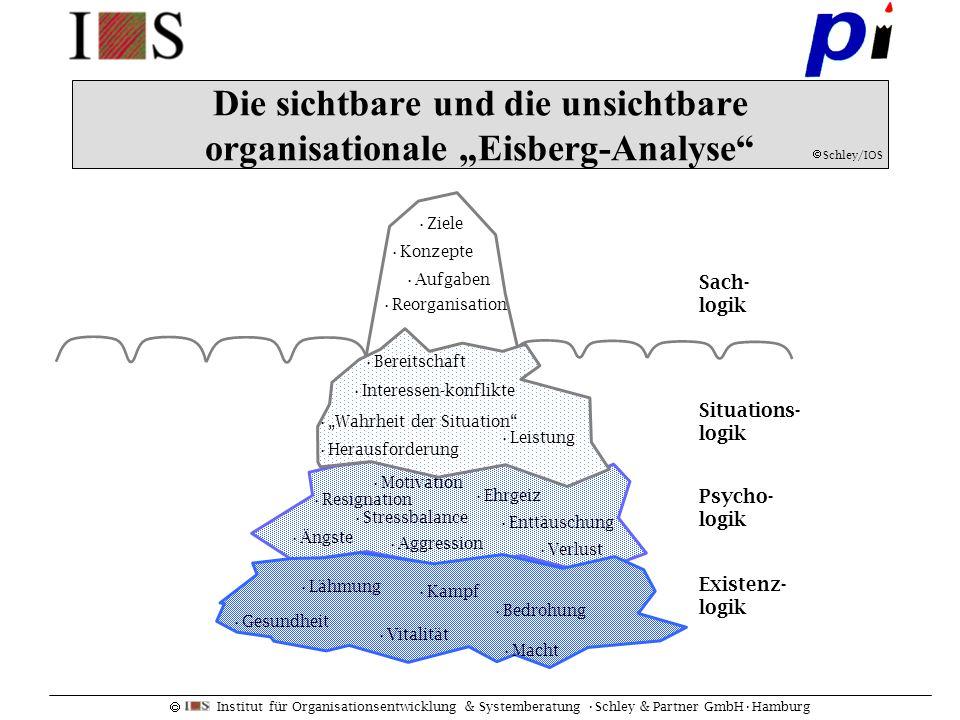 """Die sichtbare und die unsichtbare organisationale """"Eisberg-Analyse"""