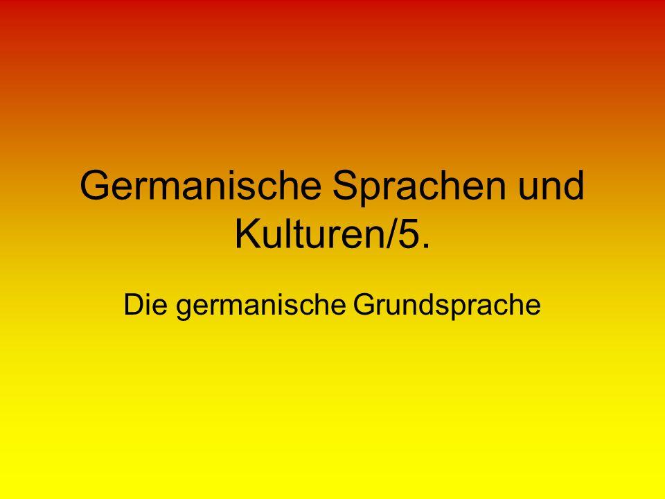 Germanische Sprachen und Kulturen/5.