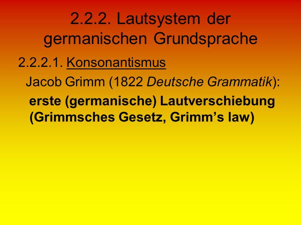 2.2.2. Lautsystem der germanischen Grundsprache