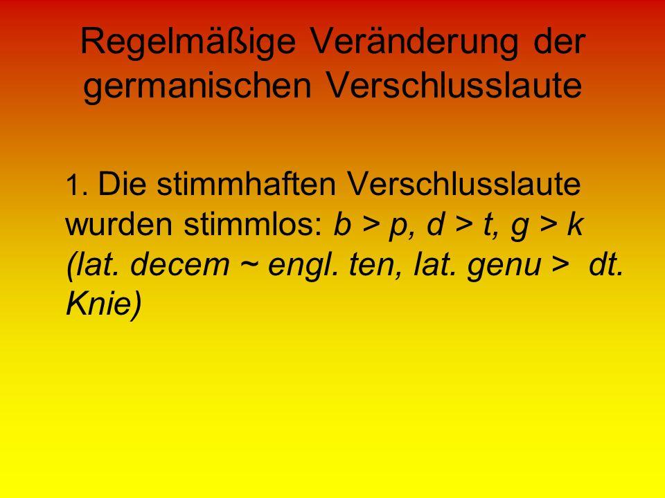 Regelmäßige Veränderung der germanischen Verschlusslaute