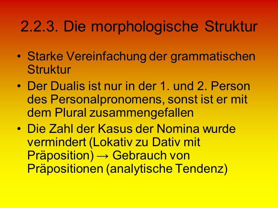 2.2.3. Die morphologische Struktur