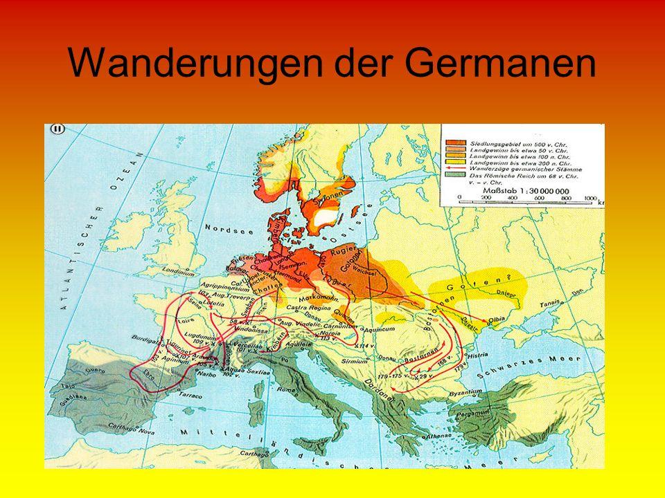 Wanderungen der Germanen