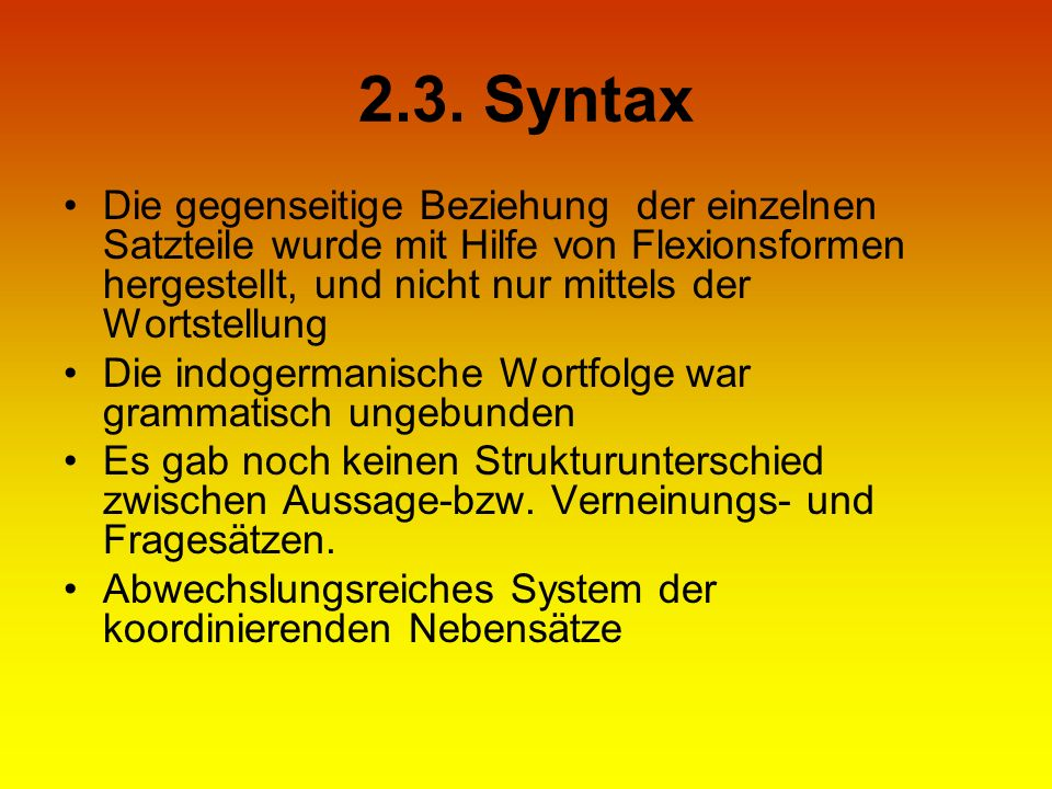 2.3. Syntax