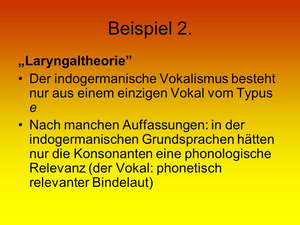 """Beispiel 2. """"Laryngaltheorie"""