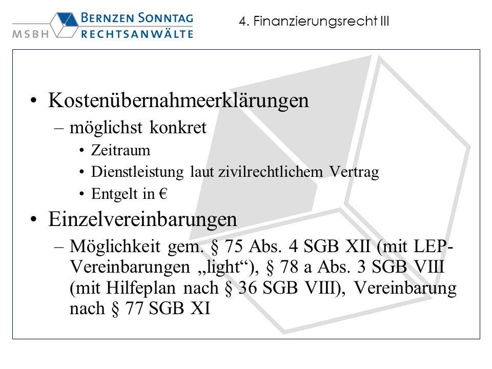 4. Finanzierungsrecht III