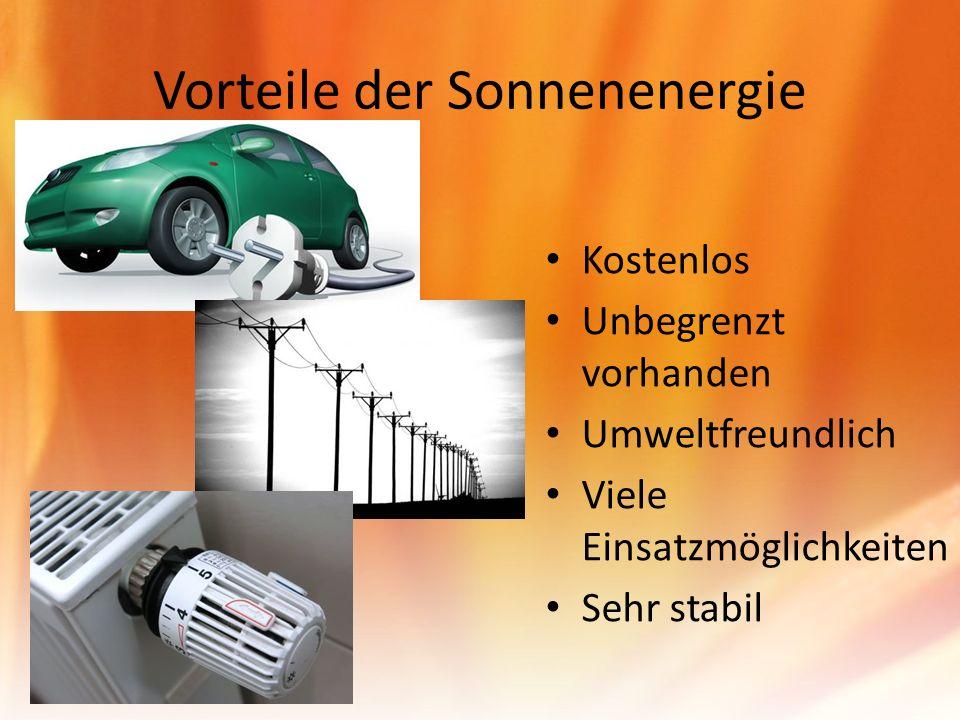 Vorteile der Sonnenenergie