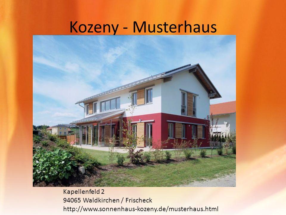 Kozeny - Musterhaus Kapellenfeld 2 94065 Waldkirchen / Frischeck