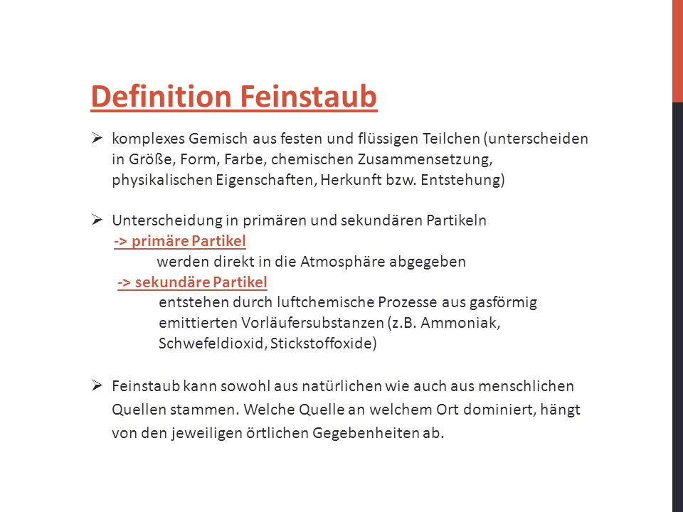 Definition Feinstaub