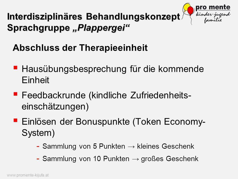 "Interdisziplinäres Behandlungskonzept Sprachgruppe ""Plappergei"