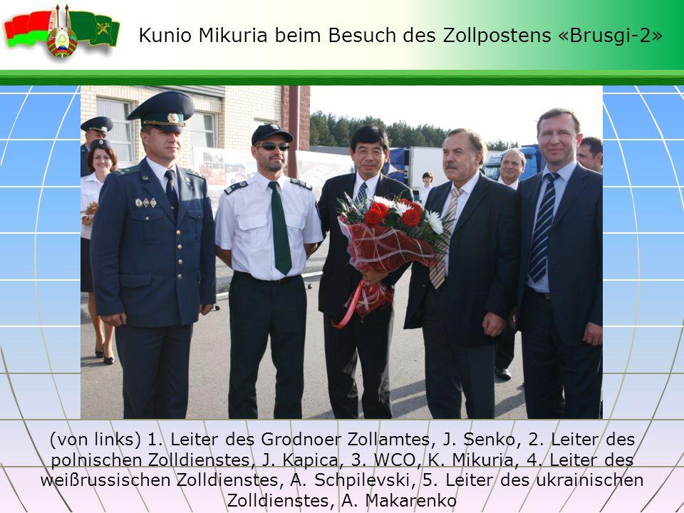 Kunio Mikuria beim Besuch des Zollpostens «Brusgi-2»