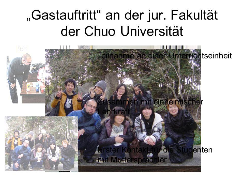 """Gastauftritt an der jur. Fakultät der Chuo Universität"