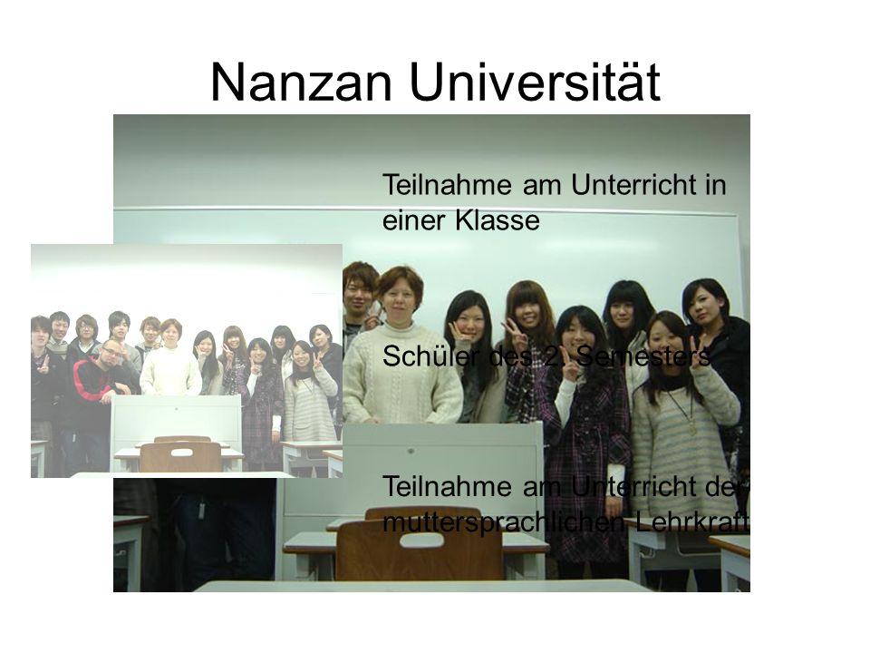 Nanzan Universität Teilnahme am Unterricht in einer Klasse