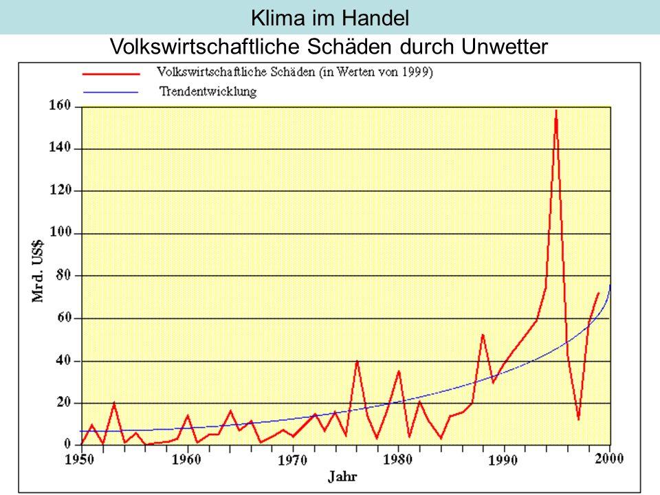 Klima im Handel Volkswirtschaftliche Schäden durch Unwetter