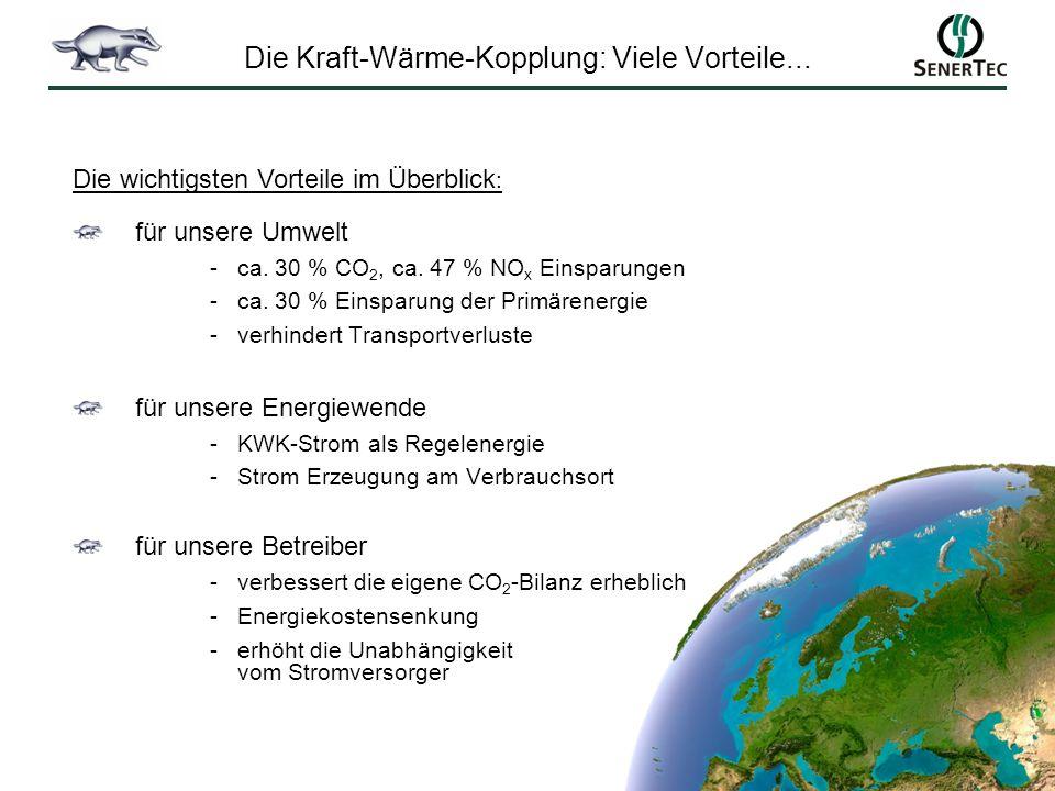 Die Kraft-Wärme-Kopplung: Viele Vorteile...