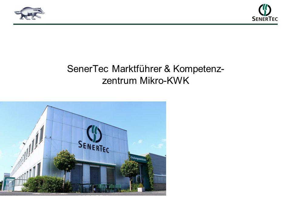 SenerTec Marktführer & Kompetenz- zentrum Mikro-KWK