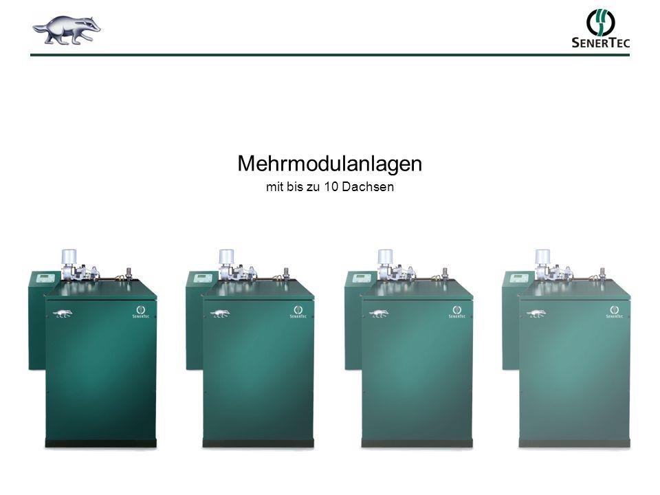 Mehrmodulanlagen mit bis zu 10 Dachsen