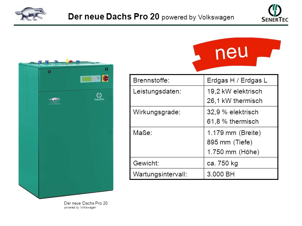 Der neue Dachs Pro 20 powered by Volkswagen