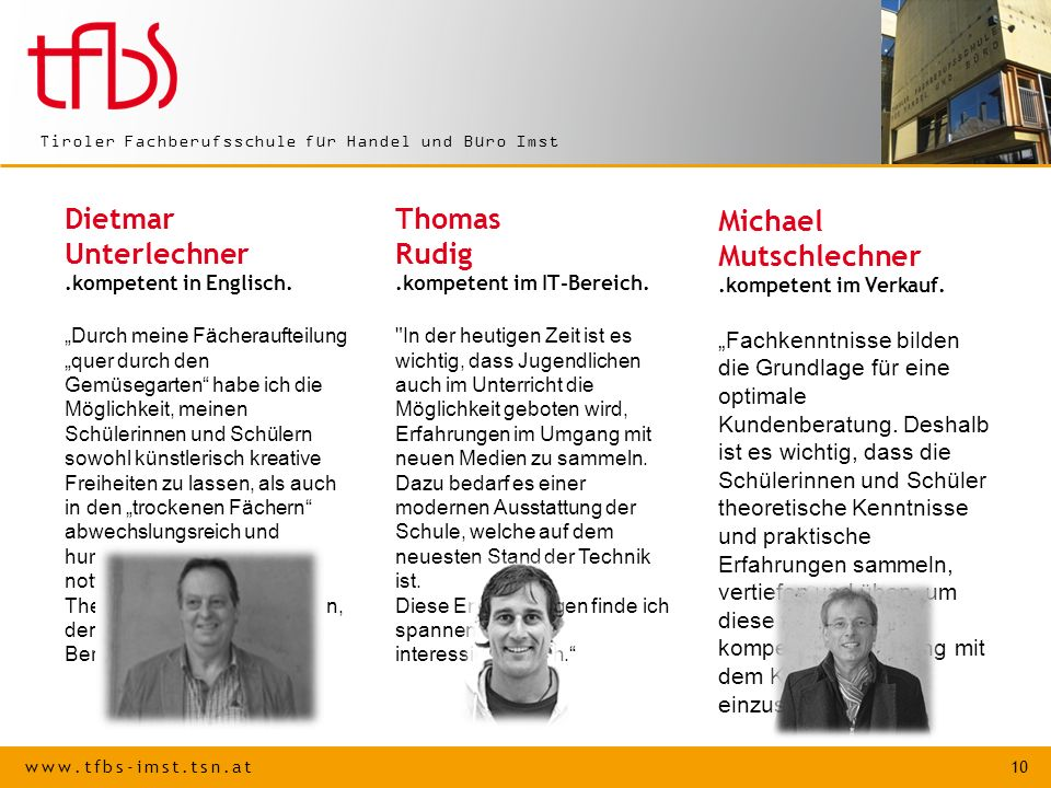 Michael Mutschlechner .kompetent im Verkauf.