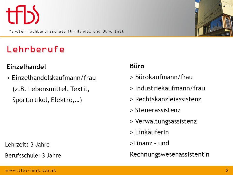 Lehrberufe Einzelhandel > Einzelhandelskaufmann/frau Büro