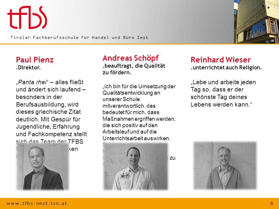 Reinhard Wieser .unterrichtet auch Religion.