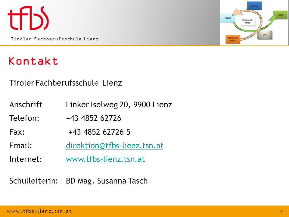 Kontakt Tiroler Fachberufsschule Lienz