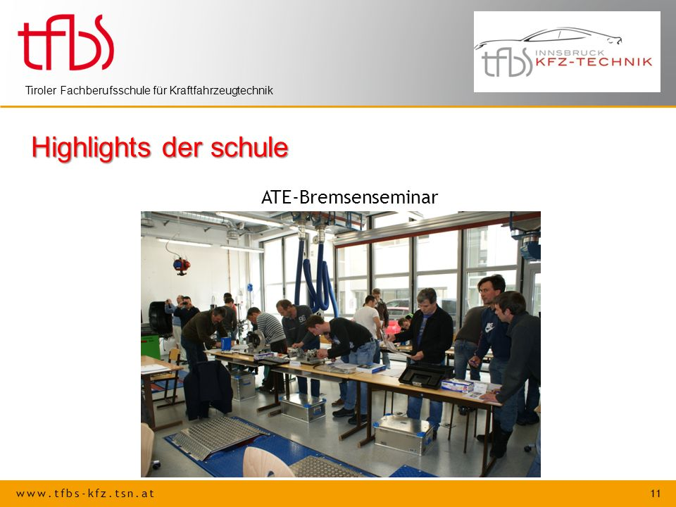 Highlights der schule ATE-Bremsenseminar