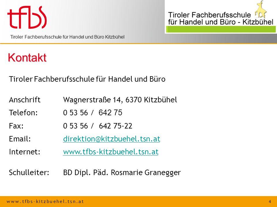 Kontakt Tiroler Fachberufsschule für Handel und Büro