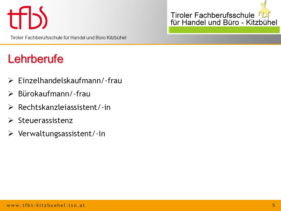 Lehrberufe Einzelhandelskaufmann/-frau Bürokaufmann/-frau