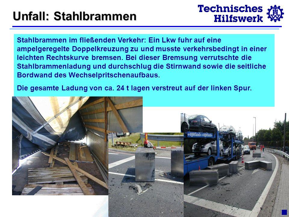 Unfall: Stahlbrammen