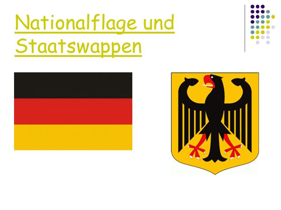 Nationalflage und Staatswappen