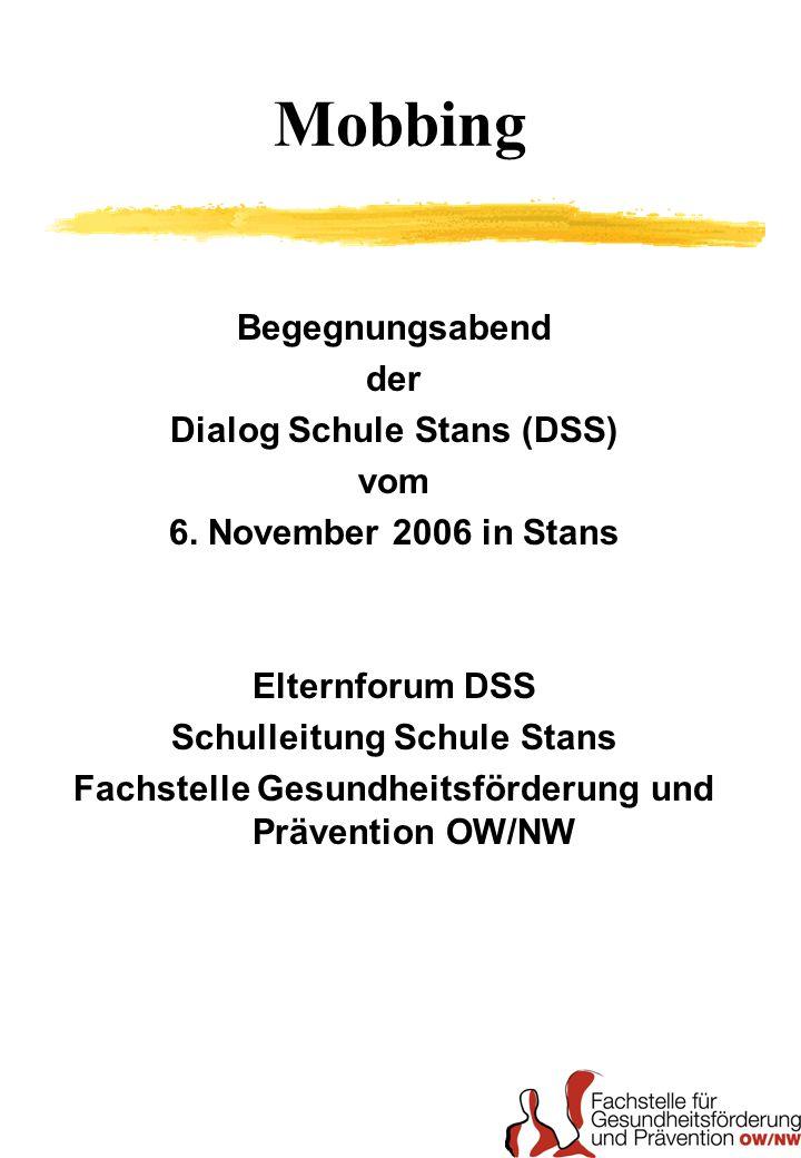 Mobbing Begegnungsabend der Dialog Schule Stans (DSS) vom