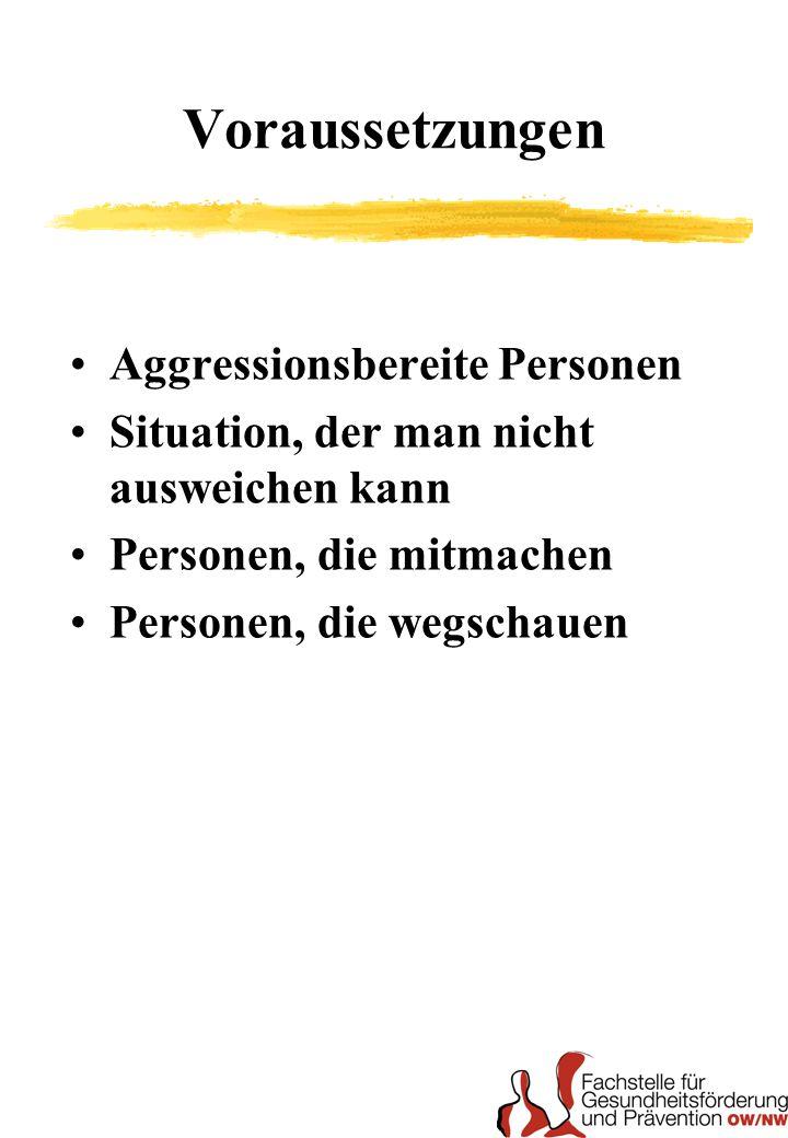 Voraussetzungen Aggressionsbereite Personen