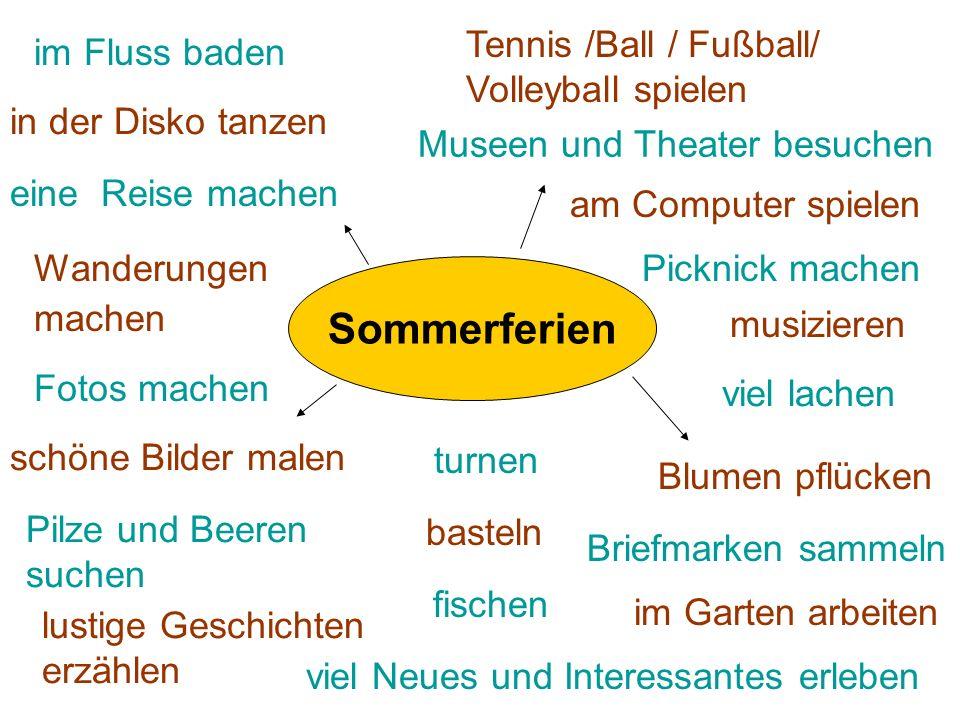 Sommerferien Tennis /Ball / Fußball/ Volleyball spielen im Fluss baden