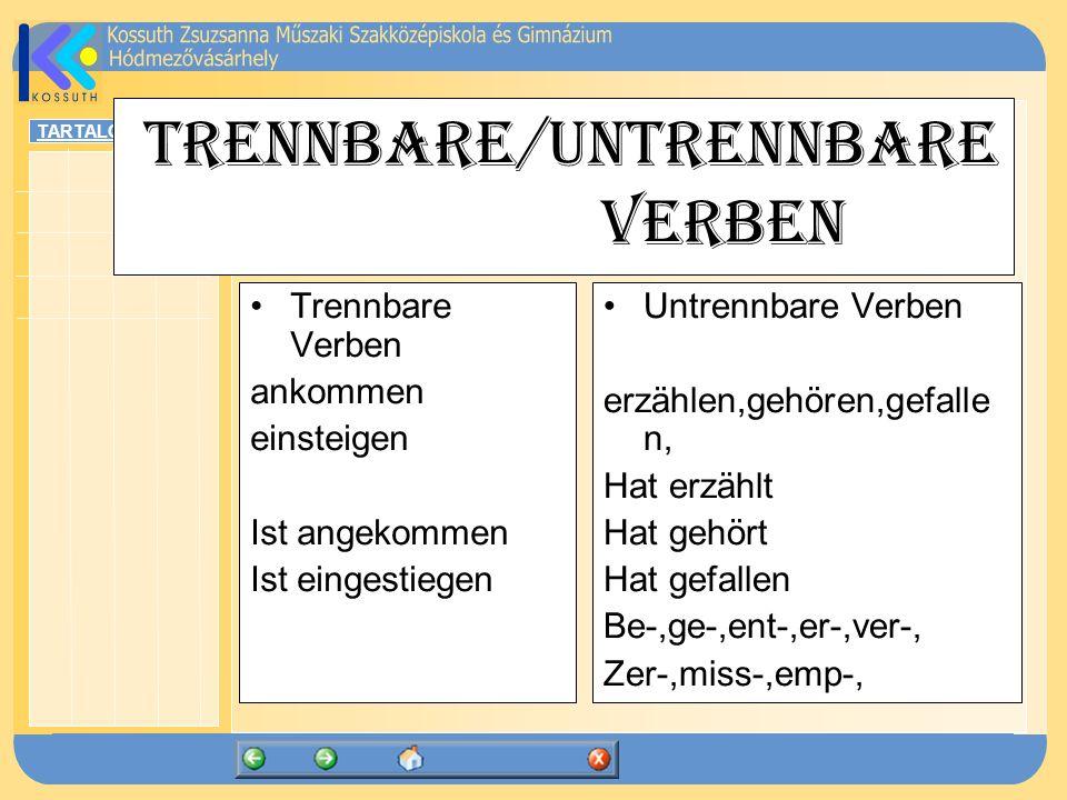 Trennbare/untrennbare Verben