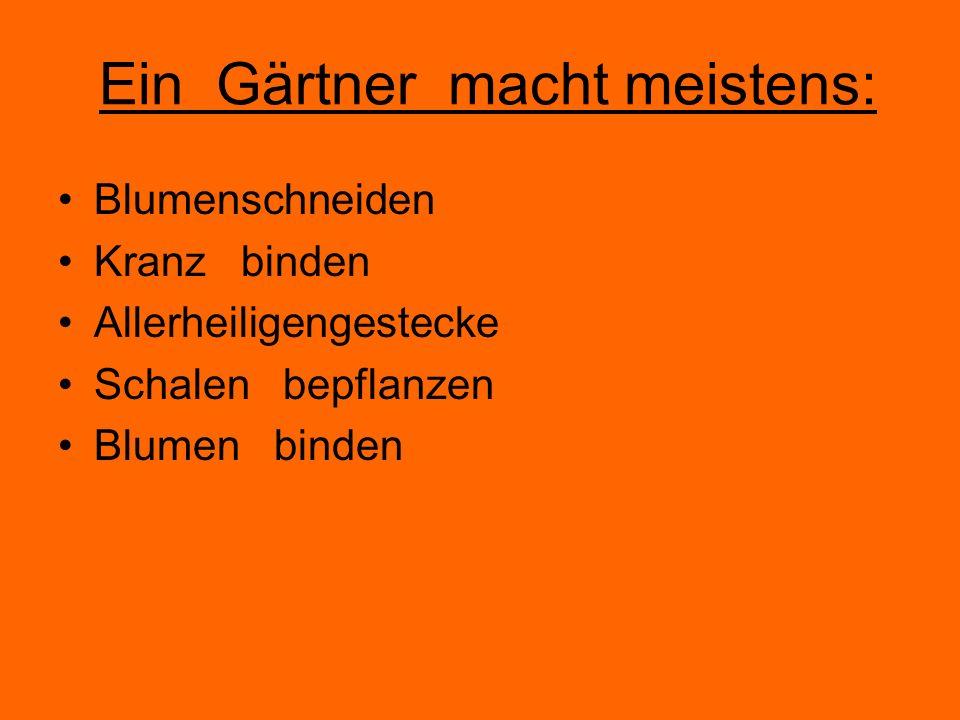 Ein Gärtner macht meistens:
