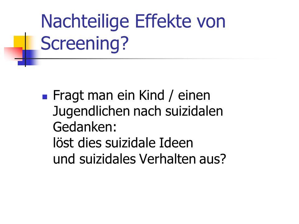 Nachteilige Effekte von Screening
