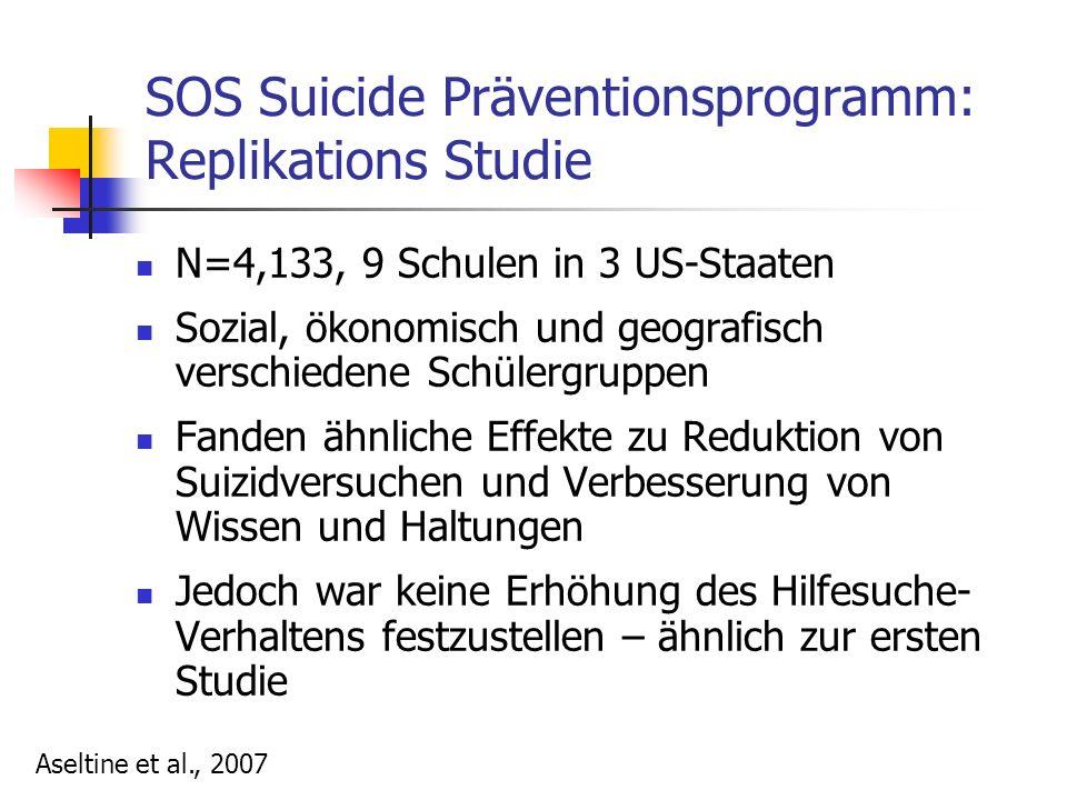 SOS Suicide Präventionsprogramm: Replikations Studie