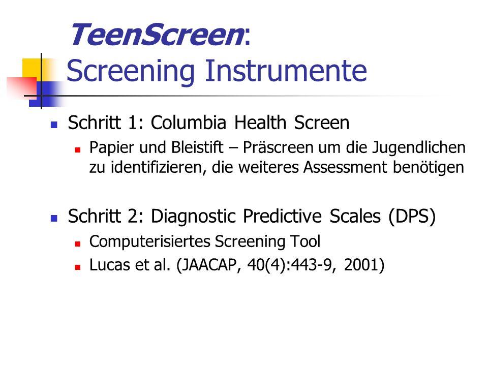 TeenScreen: Screening Instrumente