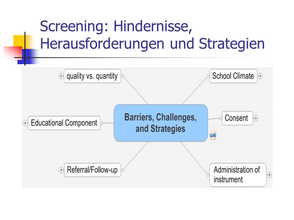 Screening: Hindernisse, Herausforderungen und Strategien