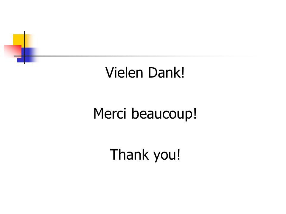 Vielen Dank! Merci beaucoup! Thank you!