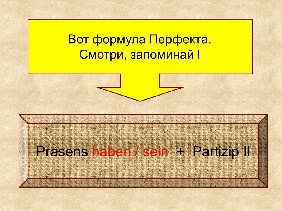 Prasens haben / sein + Partizip II