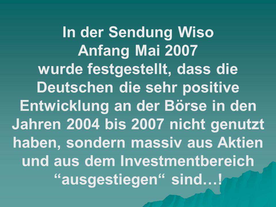 In der Sendung Wiso Anfang Mai 2007.