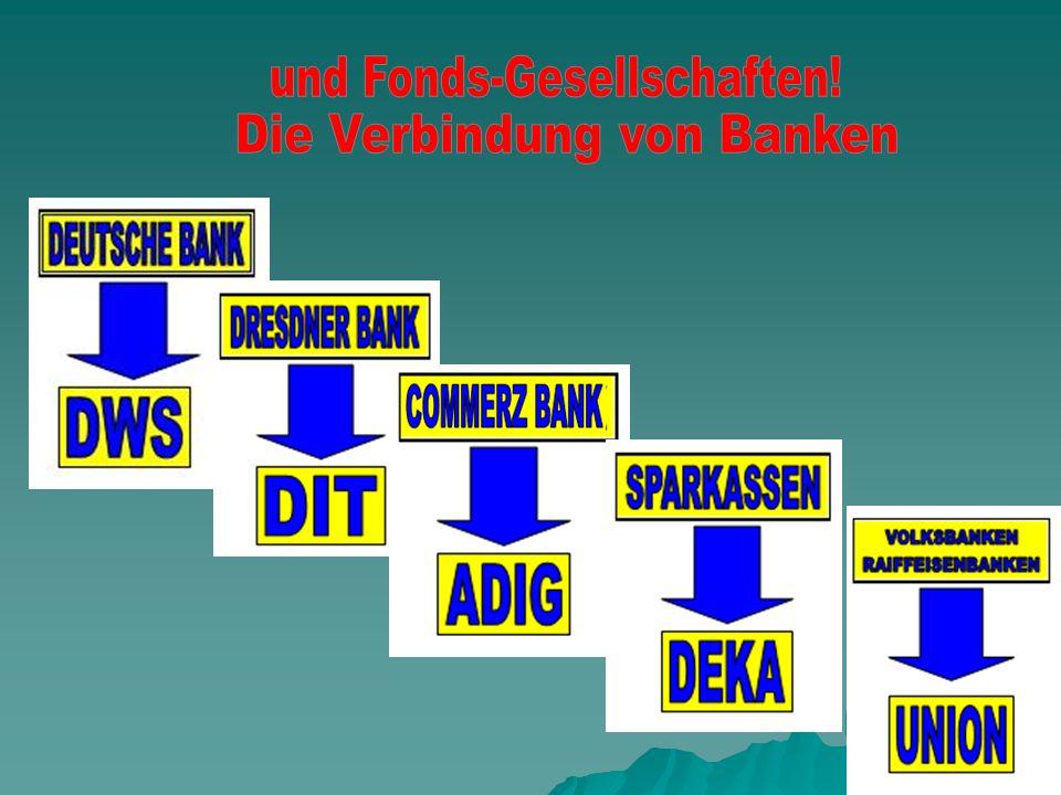 und Fonds-Gesellschaften! Die Verbindung von Banken
