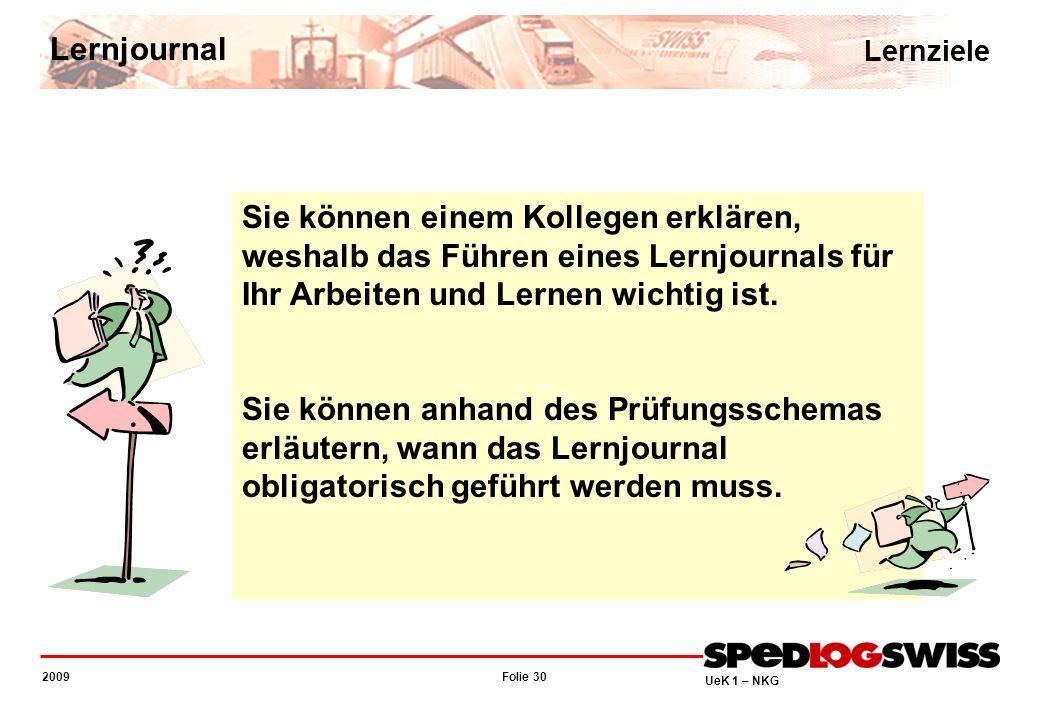 Lernjournal Lernziele. Sie können einem Kollegen erklären, weshalb das Führen eines Lernjournals für Ihr Arbeiten und Lernen wichtig ist.