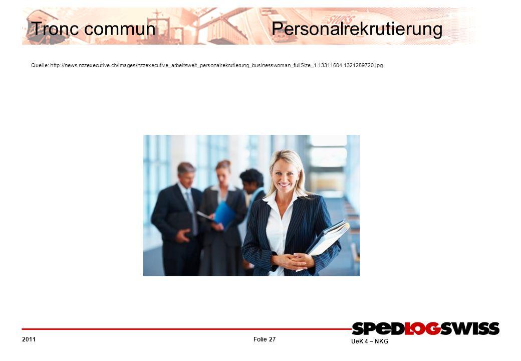 Tronc commun. Personalrekrutierung Quelle: http://news. nzzexecutive