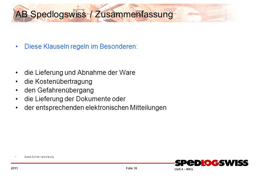 AB Spedlogswiss / Zusammenfassung