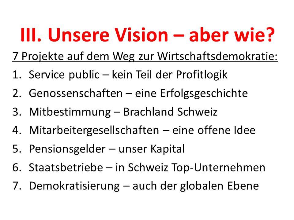 III. Unsere Vision – aber wie