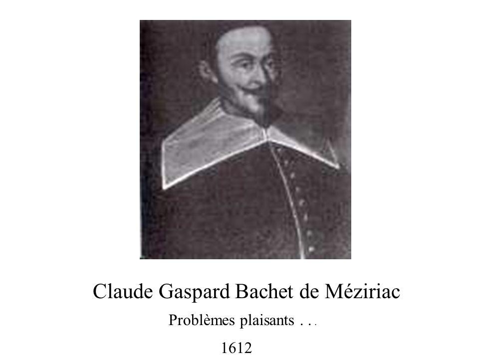 Claude Gaspard Bachet de Méziriac
