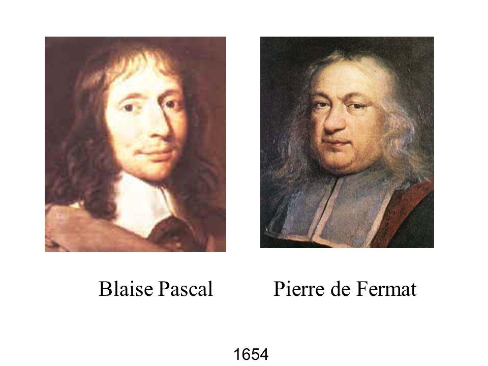 Blaise Pascal Pierre de Fermat 1654